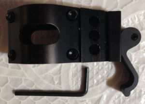 AR15 1 inch flashlight quick mount