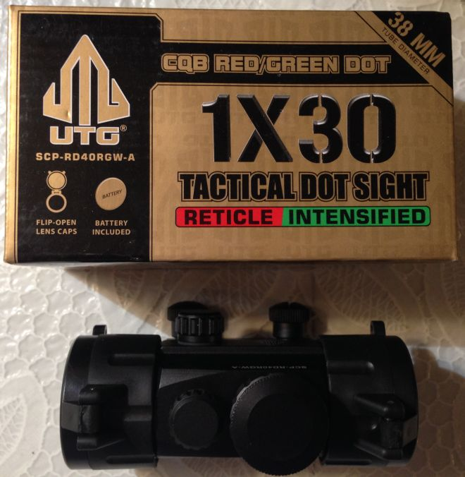 AR15 Leaper UTG red dot sight