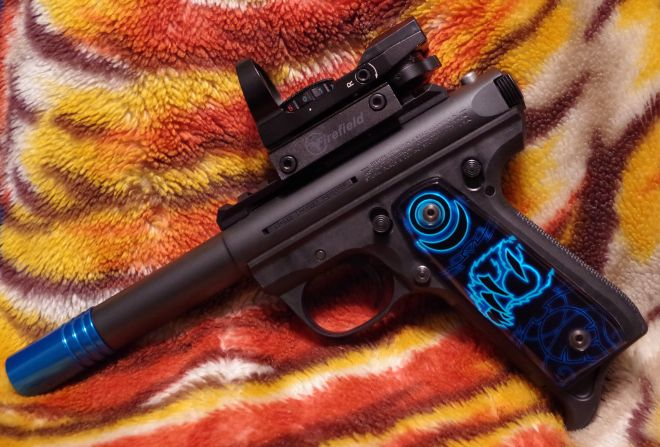 Ruger Mark III with custom modifications